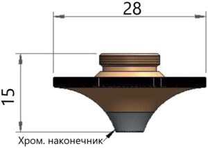 Двойное сопло Ø 1.6 CP