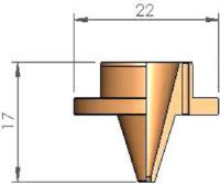 Внутренняя проставка Ø 1.3 - 8 отверстия