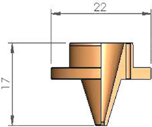 Внутренняя проставка Ø 1.5 - 24 отверстия