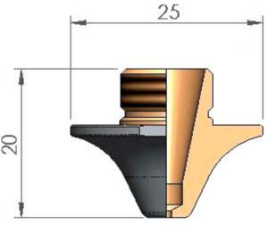 Сопло Ø S1.5E CP ECO CUT