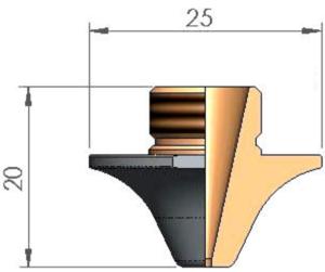 Сопло Ø S2.5 CP ECO CUT