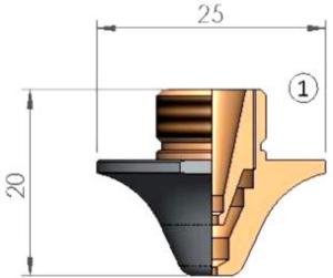 Двойное сопло Ø D3.0 CP