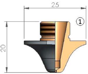 Сопло Ø 1.7 CP