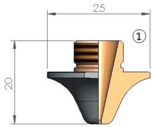 Сопло Ø 2.3 CP