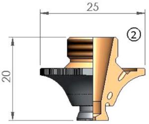 Сопло Ø S1.2W CP WACS с кольцом с проточкой