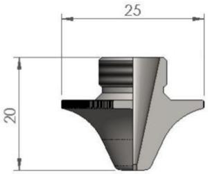 Сопло Ø S2.0CC CP для чистой резки