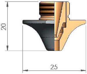 Двойное сопло Ø D4.0 AL CP