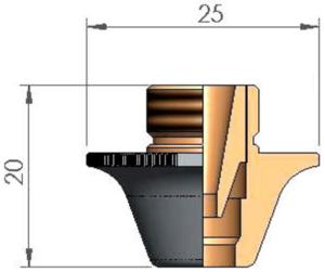 Двойное сопло Ø 7.0 AL CC CP