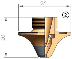 Двойное сопло Ø D4.0F CP