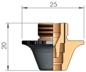 Двойное сопло Ø 7.0SC CP SILKY CUT