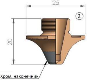 Сопло Ø S1.0 FE  CP