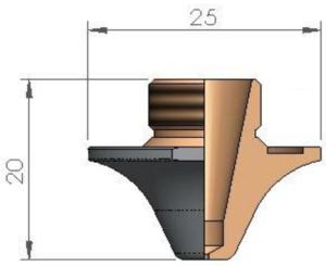 Сопло Ø S1.2 FE  CP
