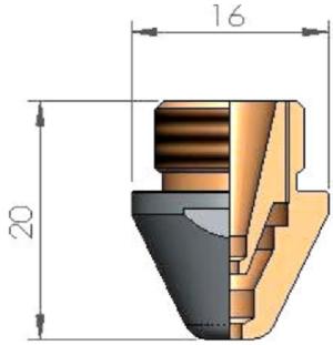 Двойное сопло Ø D1.0 CP