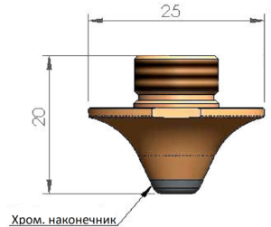 Двойное сопло Ø2.5 CP - SS