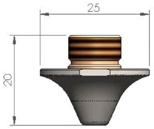 Двойное сопло Ø3.0 CP - SS