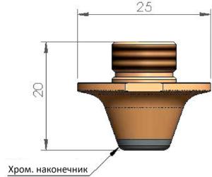 Двойное сопло Ø6.0 CP - SS