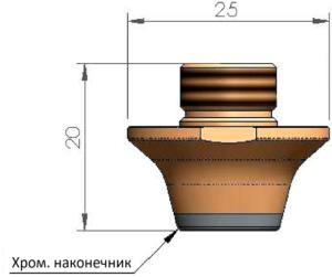 Двойное сопло Ø10.0 CP - SS