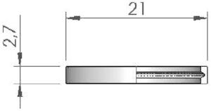 Кольцо с проточкой (фторопласт)