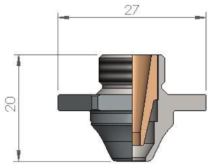 Двойное сопло NCB Ø 5.0 SPECIAL CP