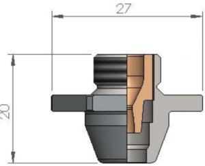 Двойное сопло QCB Ø 7.0 SPECIAL CP