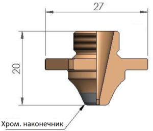 Сопло SCB Ø 2.3 CP