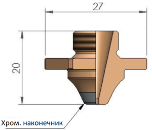 Сопло SCB Ø 4.0 CP