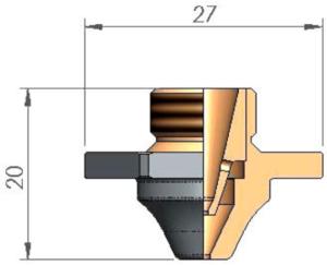Двойное сопло D3F Ø 1.0 SPECIAL CP