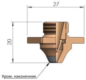 Двойное сопло D3F Ø 1.2 CP