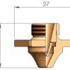 Двойное сопло D3F Ø 1.5