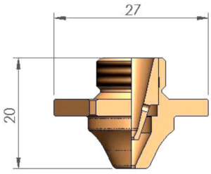 Двойное сопло D3F Ø 2.0