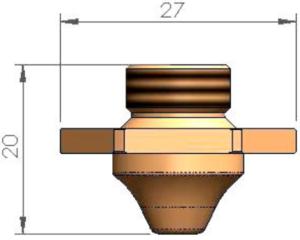 Двойное сопло Ø 2.5 - SS