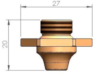 Двойное сопло Ø 6.0 - SS