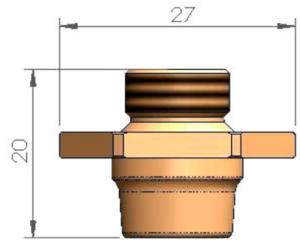 Двойное сопло Ø 10.0 - SS