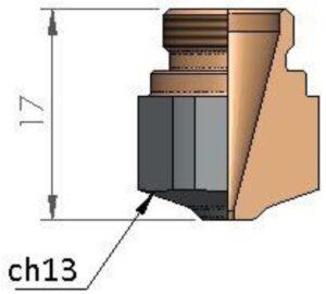 Сопло Ø 1.25 HD CP