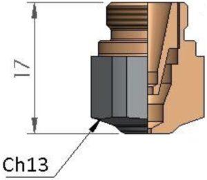 Двойное сопло Ø 1.0 CP