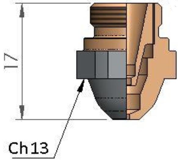 Двойное сопло Ø 2.5 CP