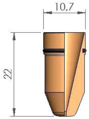 Сопло Ø 1.0 с уплотнительным кольцом
