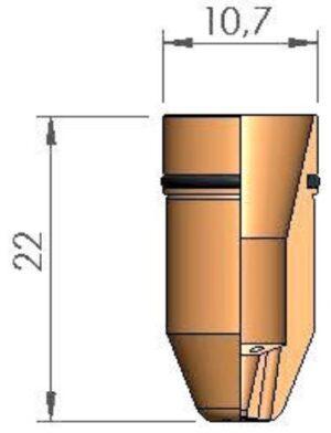 Веерное сопло Ø 1.0 с уплотнительным кольцом